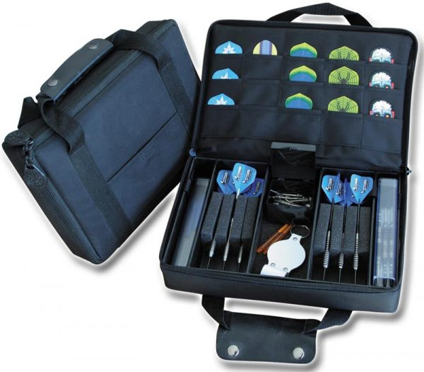 DART CASE Extra Large Quality Multi Pack Dart Carry Case Wallet BLUE