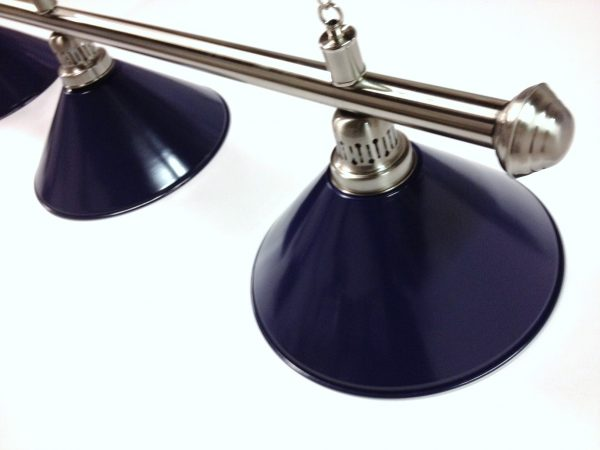 Brushed Stainless Light (3 x Blue Shades) 61 Inch