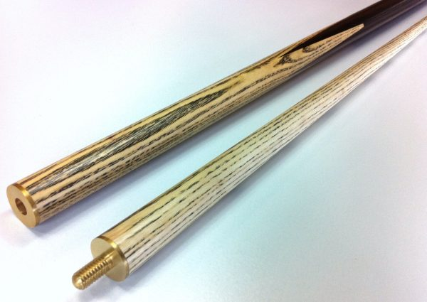 WOODEN POOL SNOOKER BILLIARD CUE SET 2x Cues ASH PRO with 10mm Glue Tips