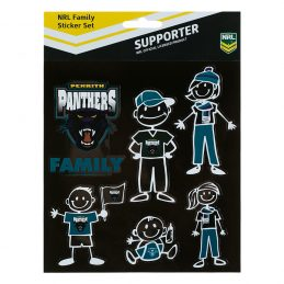 NRL Penrith Panthers FAMILY Car Sticker Sheet