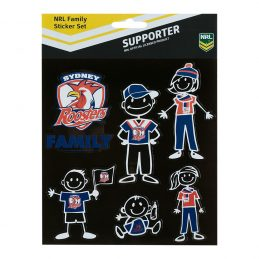 NRL Sydney Roosters FAMILY Car Sticker Sheet