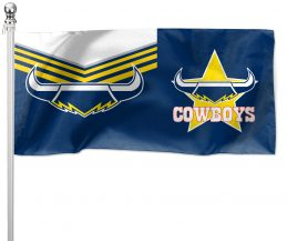 NRL North QLD Queensland Cowboys Pole Flag LARGE 1800x900mm Licensed (Pole not included)