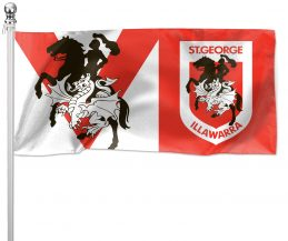 NRL St George Dragons Pole Flag LARGE 1800x900mm Licensed (Pole not included)