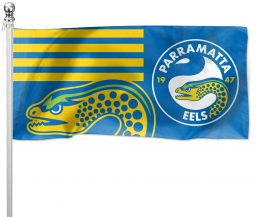 NRL Parramatta Eels Pole Flag LARGE 1800x900mm Licensed (Pole not included)