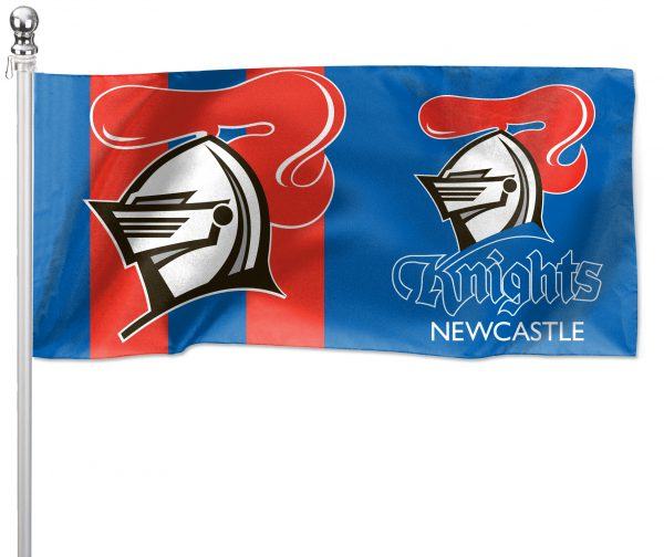NRL Newcastle Knights Pole Flag LARGE 1800x900mm Licensed (Pole not included)