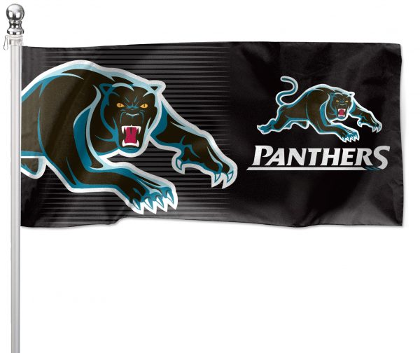 NRL Penrith Panthers Pole Flag LARGE 1800x900mm Licensed (Pole not included)