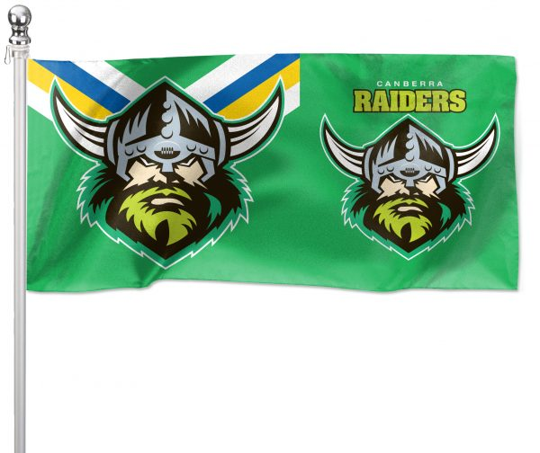 NRL Canberra Raiders Pole Flag LARGE 1800x900mm Licensed (Pole not included)