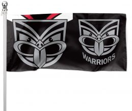 NRL New Zealand Warriors Pole Flag LARGE 1800x900mm Licensed (Pole not included)