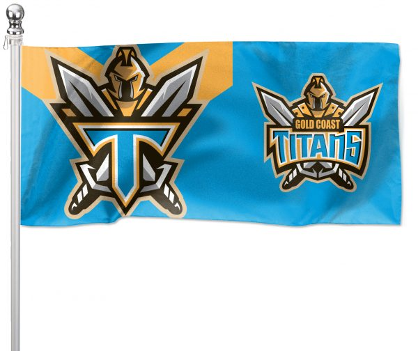 NRL Gold Coast Titans Pole Flag LARGE 1800x900mm Licensed (Pole not included)