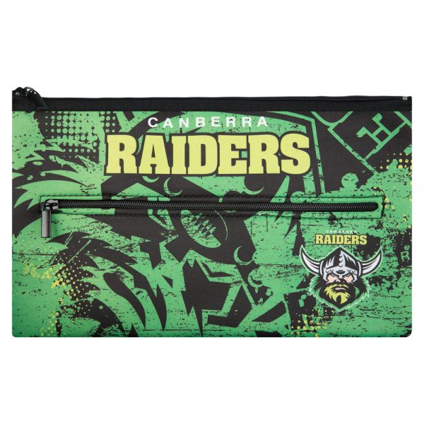 NRL Canberra Raiders QUALITY LARGE Pencil Case for School Work Stationary