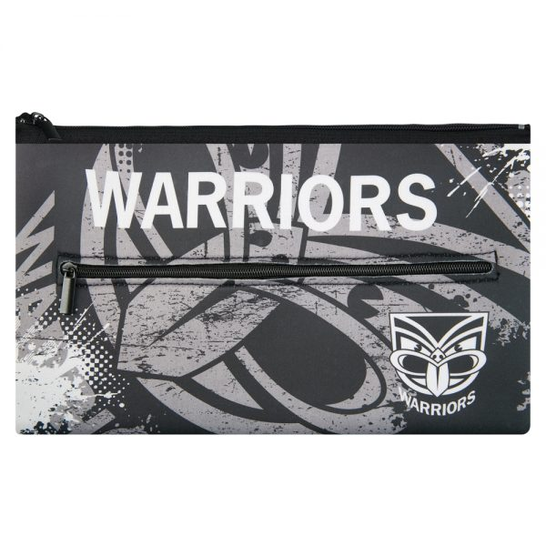 NRL New Zealand Warriors QUALITY LARGE Pencil Case for School Work Stationary
