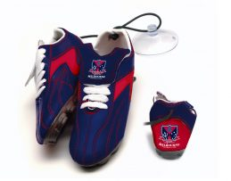 AFL Melbourne Demons Aussie Rules Hanging Suction Footy Boots