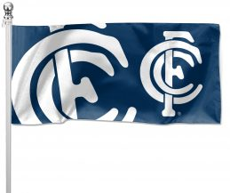 NRL Carlton Blues Pole Flag LARGE 1800x900mm Licensed (Pole not included)