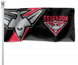 NRL Essendon Bombers Pole Flag LARGE 1800x900mm Licensed (Pole not included)