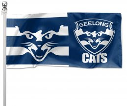 NRL Geelong Cats Pole Flag LARGE 1800x900mm Licensed (Pole not included)