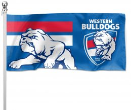 NRL Western Bulldogs Pole Flag LARGE 1800x900mm Licensed (Pole not included)