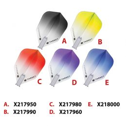 Target Pro Vision 100 Micron Flights Set of 3, Black, Purple, Red, Yellow or Blue