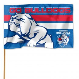 Licensed AFL Western Bulldogs GAME DAY Pole Flag Banner
