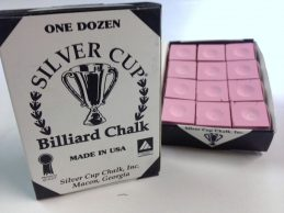 Quality USA Silver Cup Pool Snooker Billiard Cue Tip Table Chalk PINK