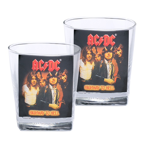 ACDC Highway to Hell Spirit Glasses Set of 2 (AC009D)