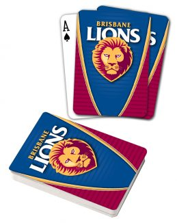 AFL Brisbane Lions Aussie Rules Deck Playing Cards Poker Cards