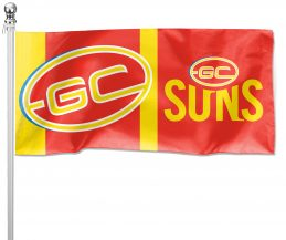 NRL Gold Coast Suns Pole Flag LARGE 1800x900mm Licensed (Pole not included)