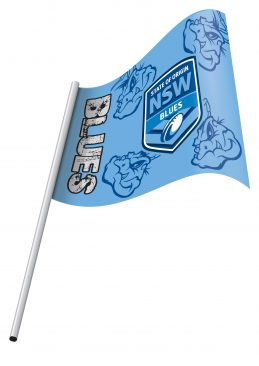 NRL State of Origin NSW Queensland Small KIDS Flag & Pole NEW Polyester