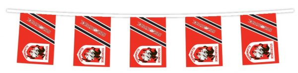 NRL ST GEORGE ILLAWARRA DRAGONS Bunting hanging Flags Banner 5m with 12 flags