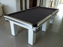 NPC Pool Table 8ft Classic White With Silver Felt and Square Legs