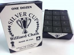 Quality USA Silver Cup Pool Snooker Billiard Cue Tip Table Chalk BLACK