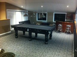 NPC Pool Table 8ft Royal DELUXE Black with Stainless Fittings