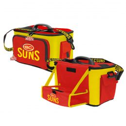 Gold Coast Suns AFL Lunch Cooler Bag With Drink Tray Table