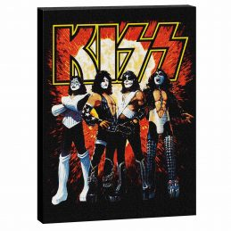 Official Licensed KISS Gene Simmons Image Large Canvas Christmas Gif