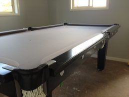 NPC Pool Table 7ft Classic Black with Stainless Steel Brackets and Buttons