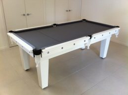 NPC Pool Table 7ft Classic White with Sainless Steel Brackets and Buttons