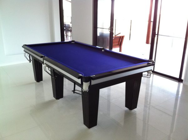 NPC Pool Table 8ft Classic Black With Stainless Trim