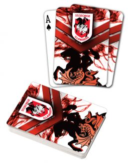 NRL ST George Illawarra Dragons Deck Playing Cards Poker Mascot Cards