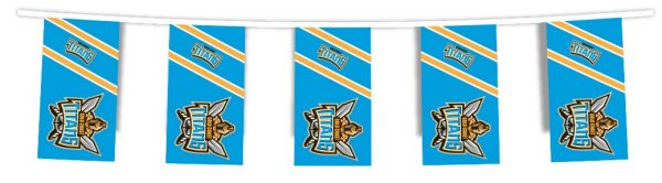 NRL GOLD COAST TITANS Bunting hanging Flag Banner 5m long with 12 flags