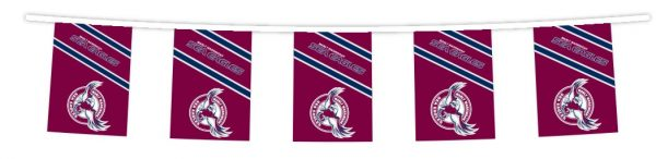NRL MANLY SEA EAGLES Bunting hanging Flag Banner 5m long with 12 flags