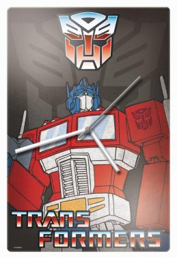 Official Licensed Trans Formers Optimus Prime Glass Clock