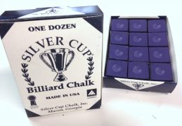 Quality USA Silver Cup Pool Snooker Billiard Cue Tip Table Chalk PURPLE