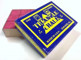 Quality TRIANGLE Pool Snooker Billiard Cue Tip Table Chalk Box of RED in Colour