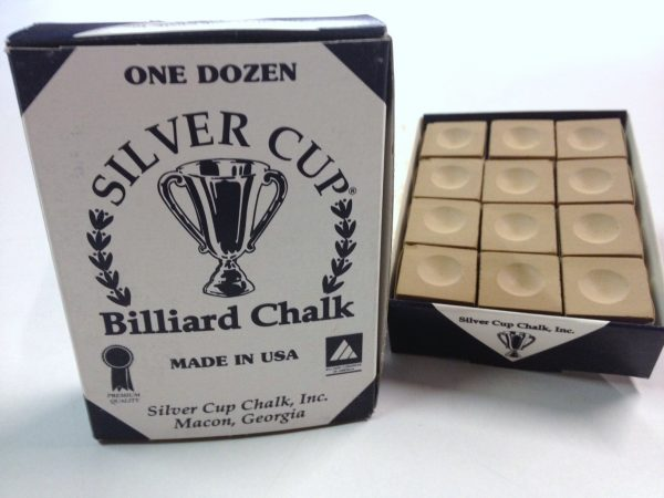 Quality USA Silver Cup Pool Snooker Billiard Cue Tip Table Chalk TAN