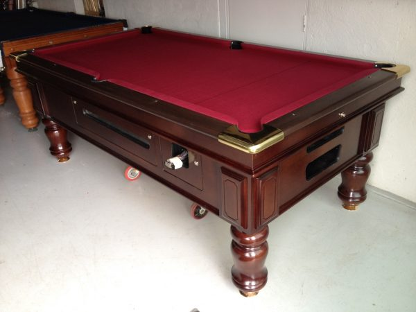 """Walnut Coin operated pool Table 7' x 3'6"""""""