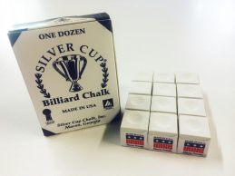 Quality USA Silver Cup Pool Snooker Billiard Cue Tip Table Chalk WHITE