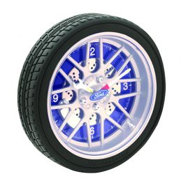 Official Licensed FORD LED TYRE WALL CLOCK