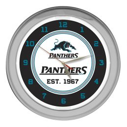NRL Penrith Panthers EST 1967 Rugby League GLASS NEON Clock