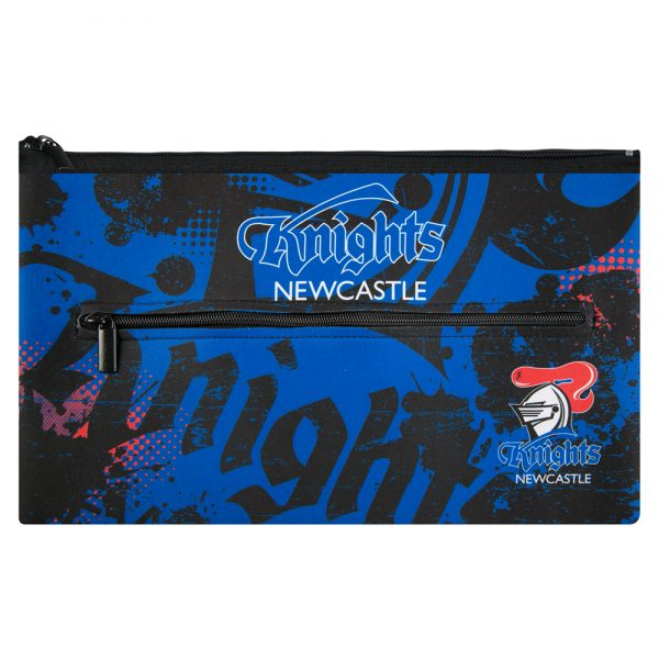 NRL Newcastle Knights QUALITY LARGE Pencil Case for School Work Stationary