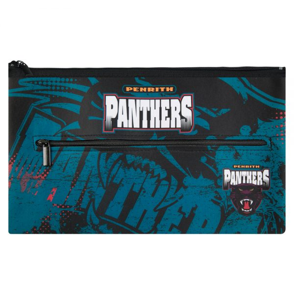 NRL Penrith Panthers QUALITY LARGE Pencil Case for School Work Stationary