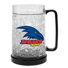 LARGE AFL Adelaide Crows Aussie Rules Freeze Beer Stein Frosty Mug Cup